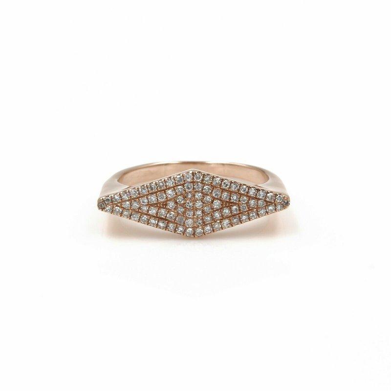 National Rarities 14K ROSE GOLD 0.50 CTW DIAMOND UNIQUE DESIGN GEOMETRIC RING SIZE 5 #986B-2