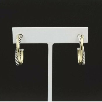 TIFFANY & CO PALOMA PICASSO 18K YELLOW GOLD ZIG ZAG DANGLE STUD EARRINGS