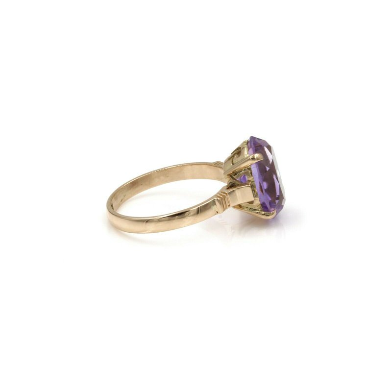 National Rarities 14K ROSE GOLD 4.04 CTW OVAL PURPLE AMETHYST 4 PRONG COCKTAIL RING 6.5 #1101B-7