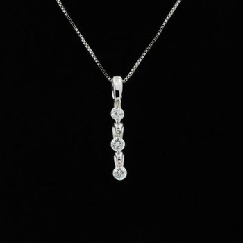 14K WHITE GOLD SHIMMERING DIAMONDS PENDANT DIAMONDS IN THE SKY NECKLACE #1035B-2