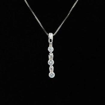 14K WHITE GOLD SHIMMERING DIAMONDS PENDANT DIAMONDS IN THE SKY NECKLACE #1035B-2