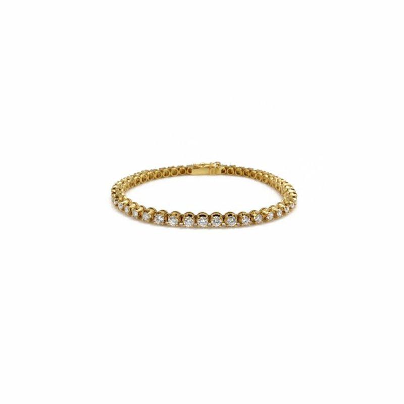 National Rarities 18K SOLID GOLD 2.58 CTW GRADUATING DIAMOND TENNIS BRACELET SIZE 6.5 #E-291
