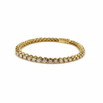 18K SOLID GOLD 2.58 CTW GRADUATING DIAMOND TENNIS BRACELET SIZE 6.5 #E-291