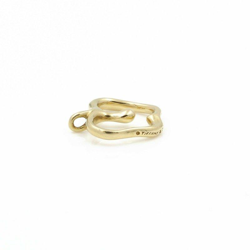 Tiffany Co TIFFANY AND CO. 18K YELLOW GOLD ELSA PERETTI APPLE PENDANT SMALL T & CO  #D3-2