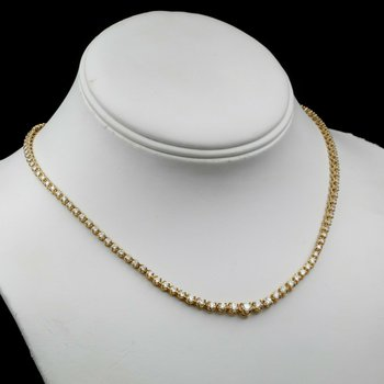 "14K GOLD AND 5.66 CTW ROUND GRADUATED DIAMOND 15.75"" ETERNITY NECKLACE #E-211"