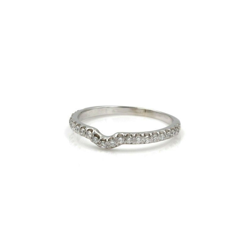 National Rarities 14K WHITE GOLD ROUND BRILLIANT DIAMONDS WEDDING BAND RING .30 CTW SZ 8.5 1081B-6
