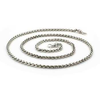 DAVID YURMAN STERLING SILVER 3MM WHEAT CHAIN SIGNED DESIGNER NECKLACE NR# D26-9