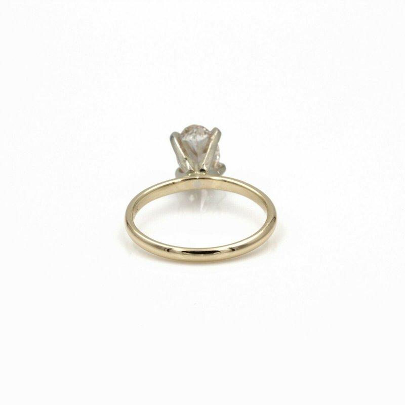 National Rarities 1.02 CT OVAL LAB GROWN DIAMOND SOLITAIRE 14K GOLD RING IGI GRADED W/ REPORT 967B