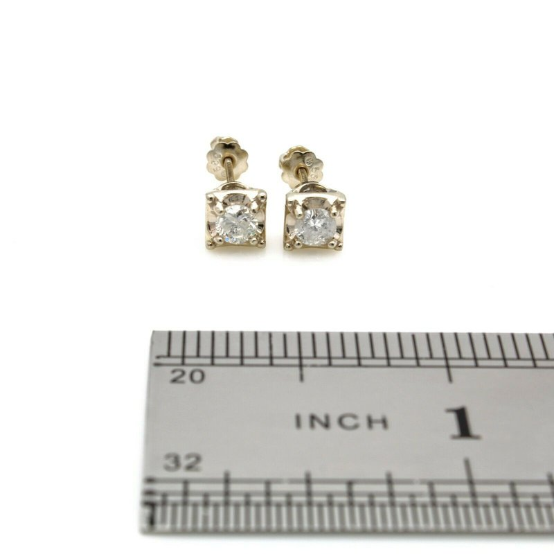 National Rarities 14K SOLID GOLD 0.50 CTW ROUND DIAMOND H COLOR I1 CLAIRTY STUD EARRINGS #JB35-8