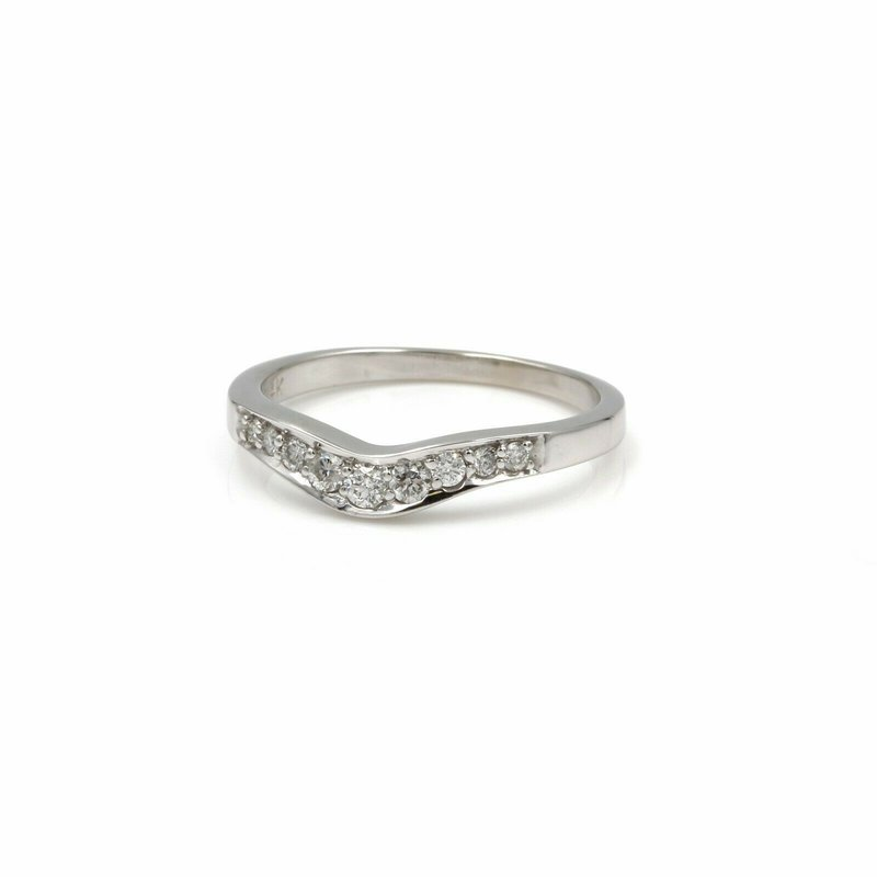 Paul Winston Jewelry 14K WHITE GOLD PWJ SIGNED 0.20 CTW DIAMOND ANNIVERSARY BAND SIZE 6.75 #1038B-9