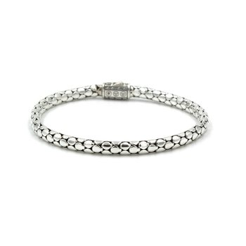"TIFFANY & CO STERLING SILVER ROLLING TRIPLE INTERLOCKING 7.75"" BANGLE BRACELET"