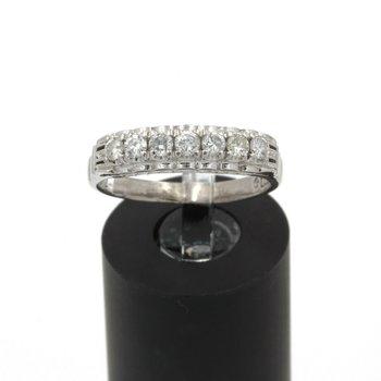VINTAGE 14K WHITE GOLD .40CTW DIAMOND SHARE SET ANNIVERSARY BAND S 7.25 JB43-7