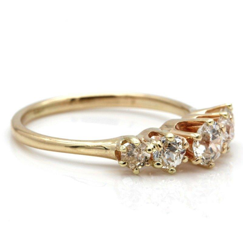 National Rarities 14K SOLID GOLD 1.00 CTW OLD EUROPEAN CUT DIAMOND RING SIZE 6.5 #JB35-9