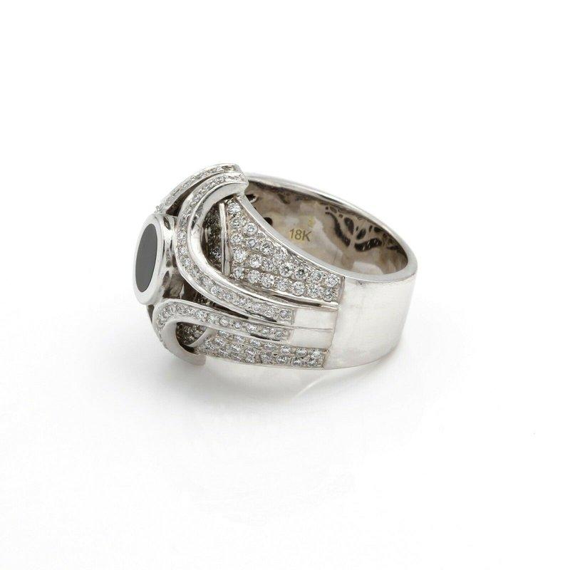 Bernard Passman BERANRD PASSMAN 18K GOLD BLK CORAL ROUND BRILLAINT DIAMOND RING 2.54 CTW D958-9
