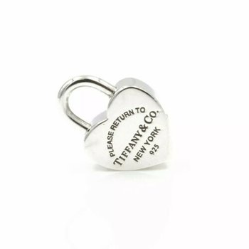 TIFFANY & CO STERLING SILVER PLEASE RETURN TO HEART PAD LOCK PENDANT #1029B-9