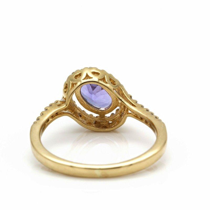 National Rarities 18K YELLOW GOLD DELICATE 0.85 CT TANZANITE AND DIAMOND RING SIZE 5.25 #JB75-2