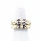 Lagos LAGOS CAVIAR ARCADIAN DOME 18K GOLD & STERLING SILVER  RING SIZE 3.5 #D23-7