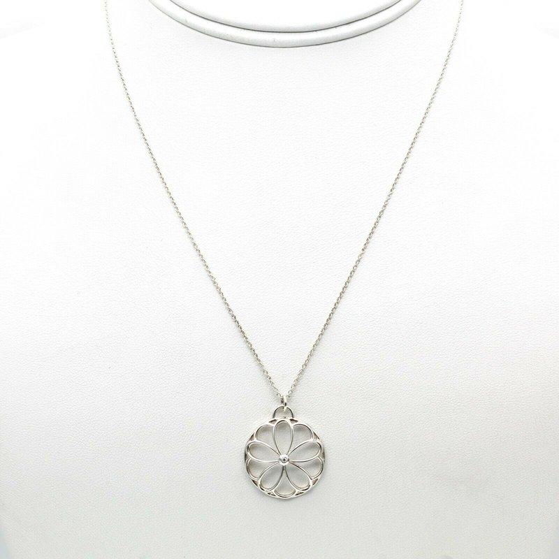 Tiffany Co TIFFANY & CO. GARDEN FLOWER DIAMOND STERLING SILVER NECKLACE NR# 1018B-1