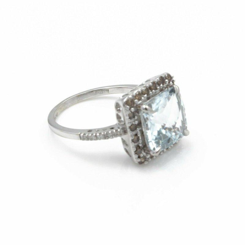 National Rarities 14K RING W/ 2.88 CT AQUAMARINE MAIN STONE AND .23 CTW DIAMOND ACCENTS NR #J3-2
