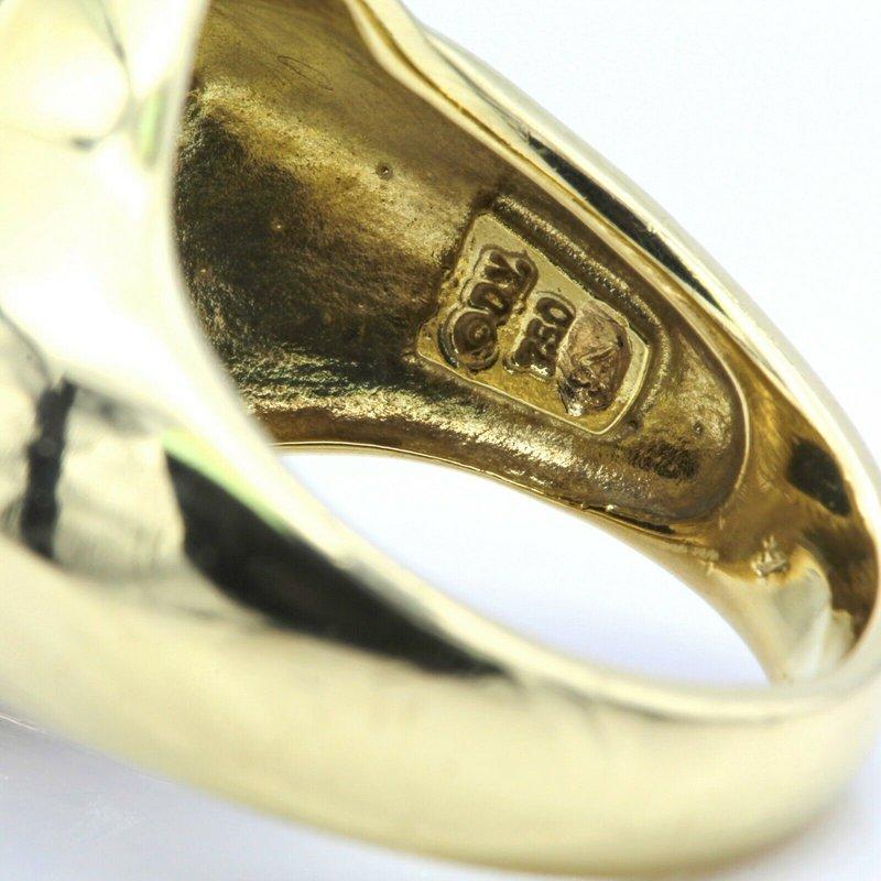 David Yurman DAVID YURMAN 18K YELLOW GOLD QUATREFOIL ONYX DIAMOND RING SIZE 6.5 #D535-5