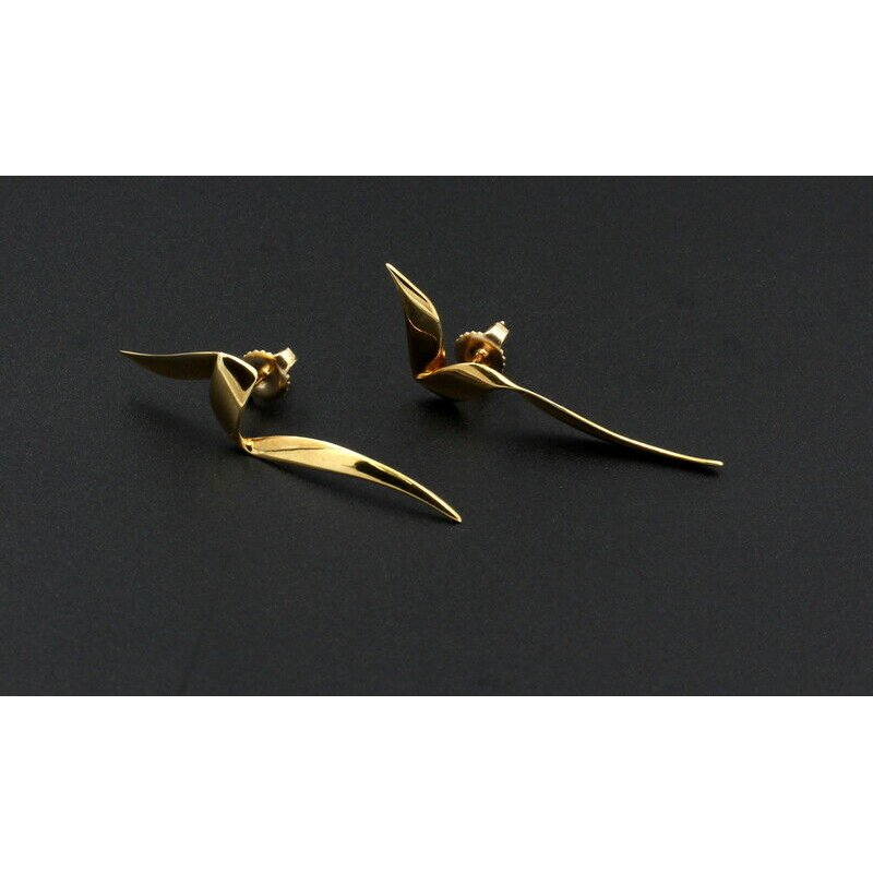 Tiffany Co TIFFANY & CO 18K SOLID GOLD PALOMA PICASSO 1983 CHRYSALIS DROP EARRINGS #D20-11