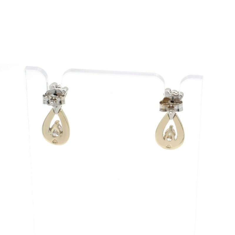 National Rarities 14K TWO TONE GOLD & .56 CTW DIAMOND EARRING PENDANT CONTEMPORARY SUITE  JB43-10