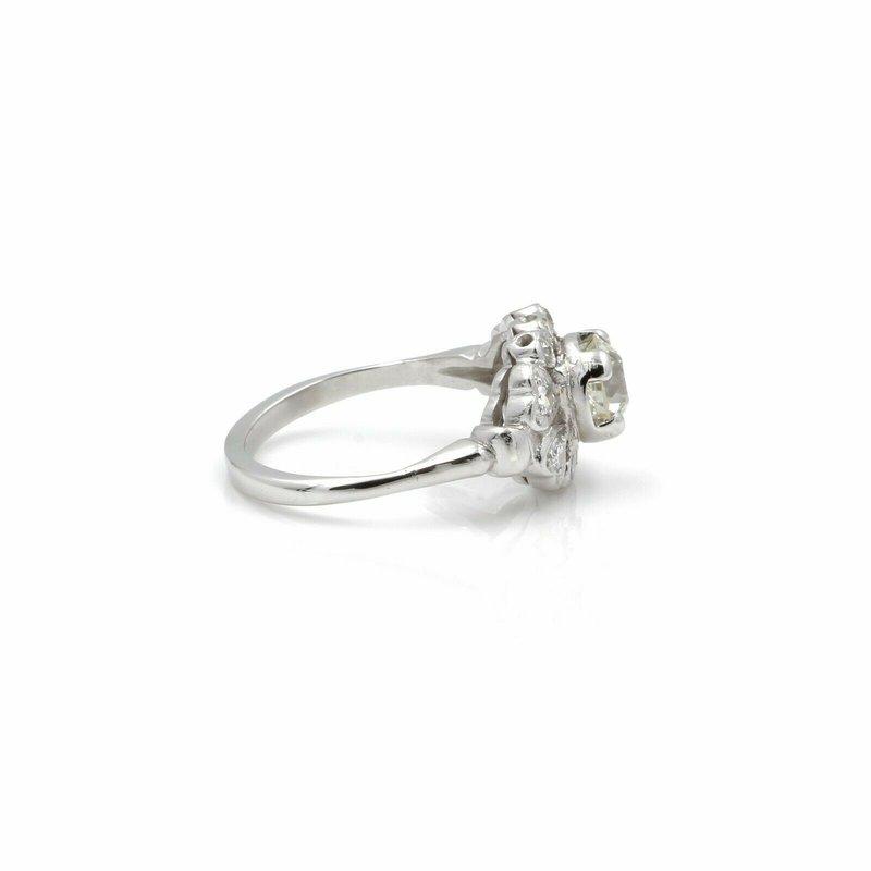 Unbranded VINTAGE PLATINUM OLD EUROPEAN ROUND CUT DIAMOND RING 1.20CTW SIZE 6.75 #E338