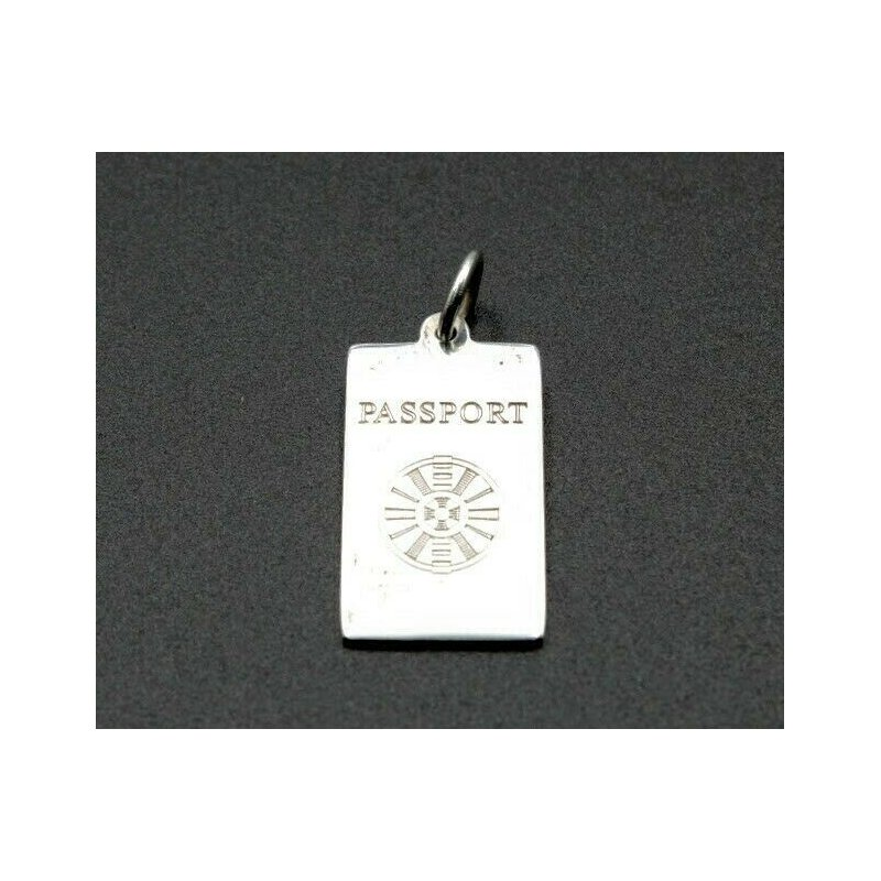 Tiffany Co TIFFANY & CO PASSPORT CHARM PENDANT STERLING SILVER 925 VINTAGE DESIGNER 1052B-9