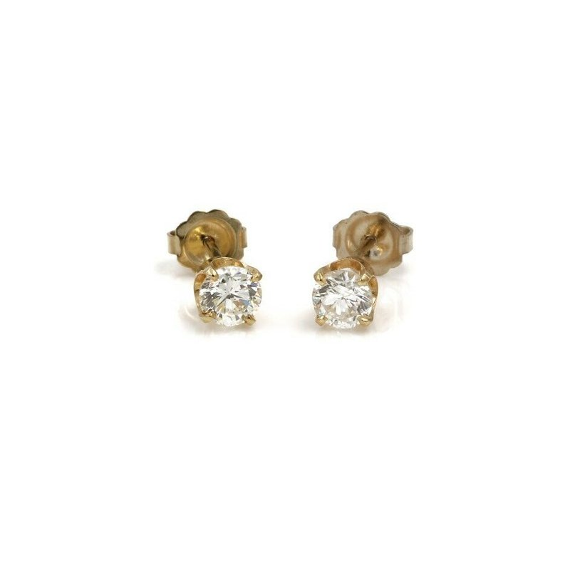 National Rarities STUNNING CLASSIC DIAMOND SOLITARE EARRINGS ROUND DIAMOND STUDS .80 CTW #1015B-5