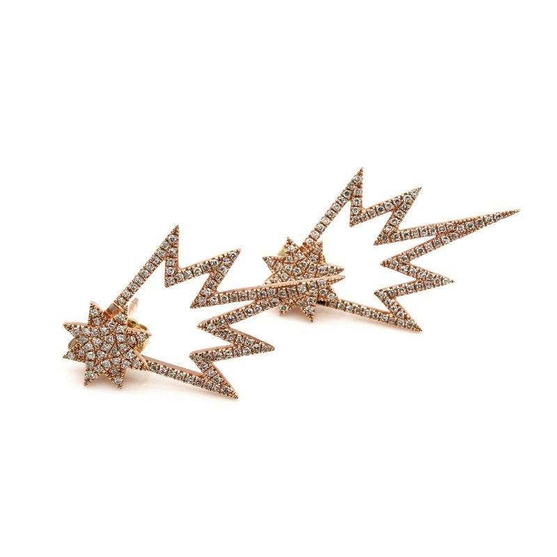 National Rarities 14K ROSE GOLD 1.05 CTW DIAMOND STARBURST STUD AND JACKET EARRINGS JB23-1