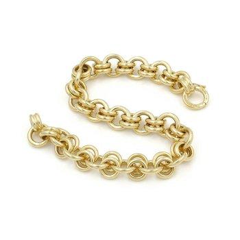 EXQUISITE 18K GOLD TIFFANY & CO. SCHLUMBERGER DOULBE HOOP LINK BRACELET D3091-4