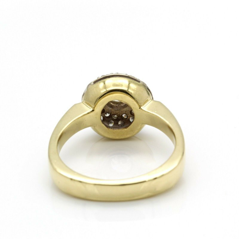 National Rarities GORGEOUS VINTAGE 18K YELLOW GOLD AND 0.78 CTW DIAMOND RING SIZE 6 #J1061-S4