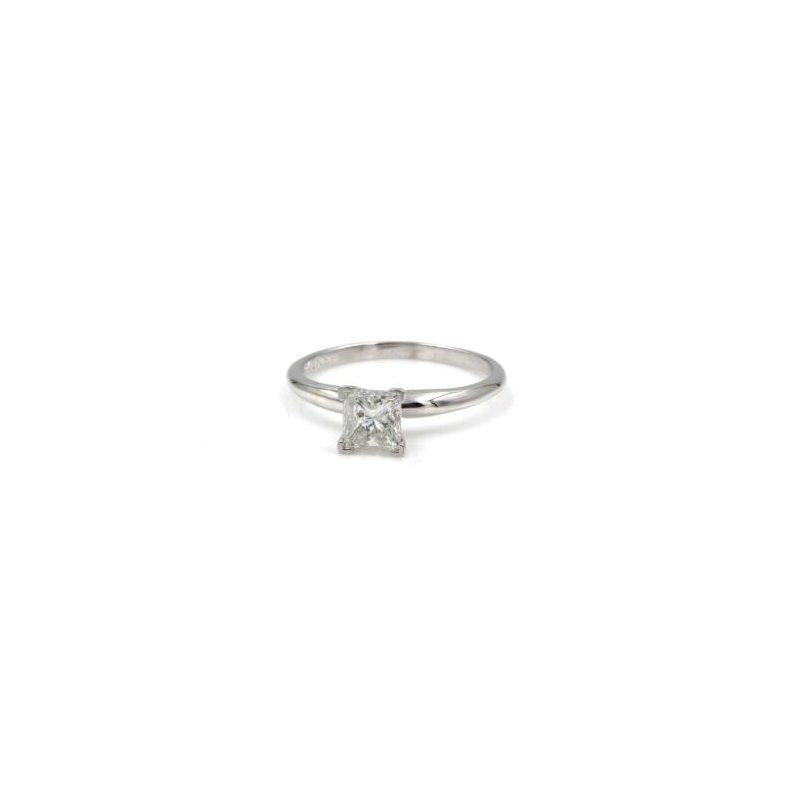 National Rarities 14K WHITE GOLD STUNNING PRINCESS CUT DIAMOND 1CT SOLITARE BRIDAL RING #1035B-8