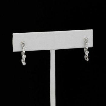 14K WHITE GOLD SHIMMERING DIAMOND STUD EARRINGS DIAMONDS IN THE SKY #1035B-10