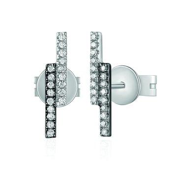 0.08 ctw Diamond Bar Post Earrings
