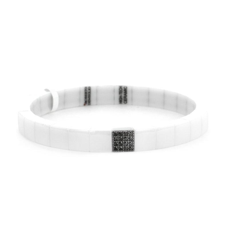 Roberto Demeglio 0.18 ctw Black Diamond & Ceramic Stretch Bracelet