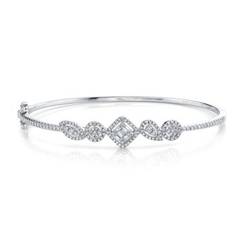0.65 ctw Diamond Bangle Bracelet