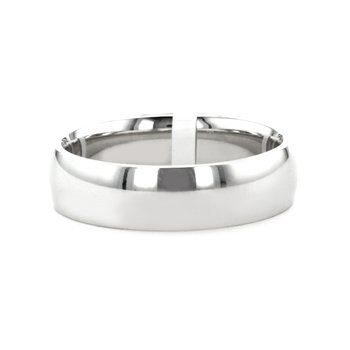 6MM Low Dome Polished Band