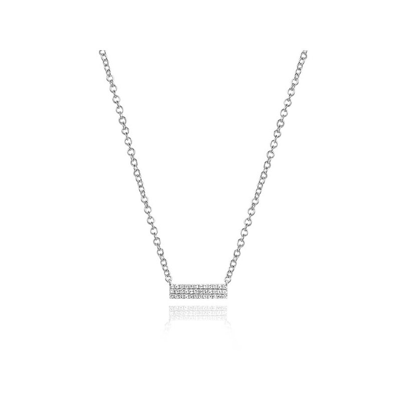Continental Collection 0.10 ctw Diamond Bar Necklace