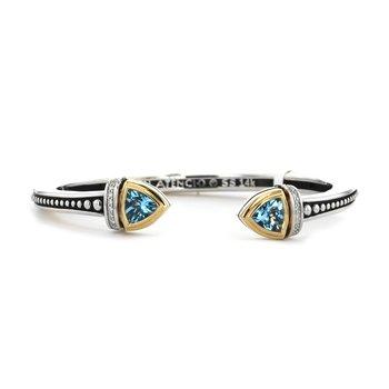 Blue Topaz Sterling Silver Cuff Bracelet
