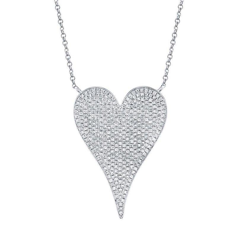 Shy Creation 0.83 ctw Diamond Heart Necklace