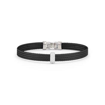 0.05 ctw Diamond Cable Bangle Bracelet