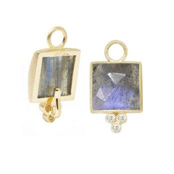 Labradorite & Diamond Square Drop Jackets