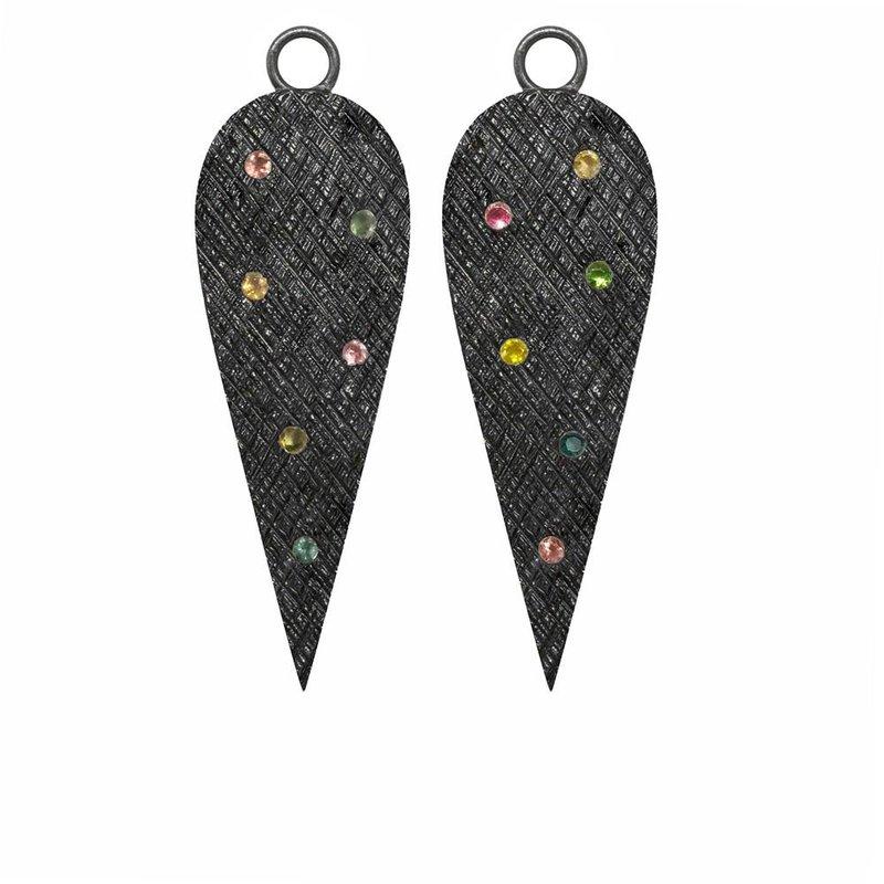 Nina Nguyen Designs Multi-Tourmaline Oxidized Drop Jackets