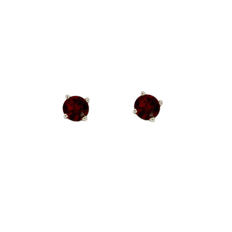 Continental Collection 1.12 ctw Garnet Post Earrings
