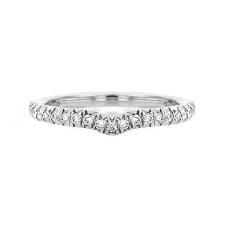 Continental Collection 0.20 ctw Contoured Diamond Band
