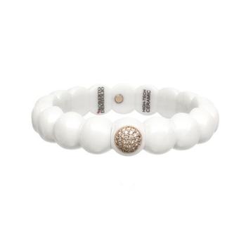 0.48 ctw Diamond & Ceramic Stretch Bracelet