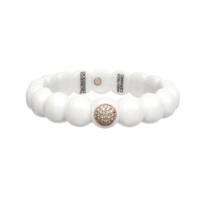 Roberto Demeglio 0.48 ctw Diamond & Ceramic Stretch Bracelet