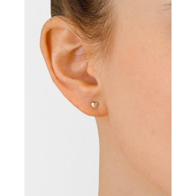 Anzie Micro Heart Post Earrings