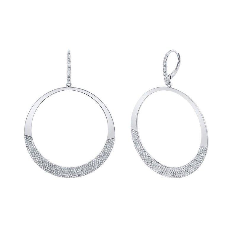 Shy Creation 1.37 ctw Diamond Drop Earrings